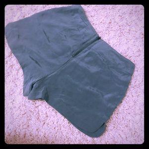 Tealish/ army green shorts